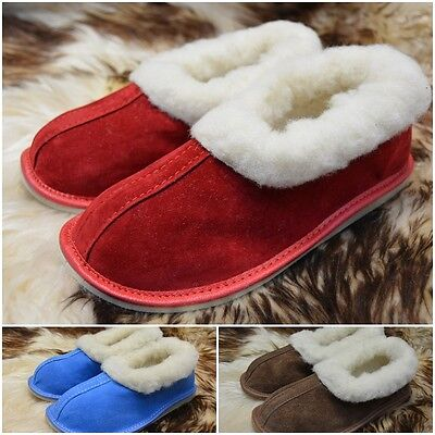hand-made womens ladies leather slippers moccasins all size 3-8