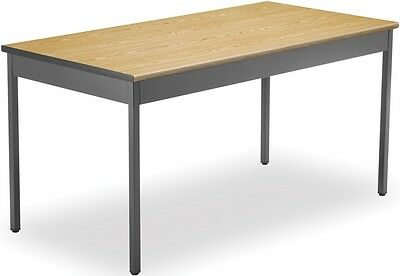 Contemporary Rectangular 30'' D x 60'' W Utility Table in Oak - Office Table