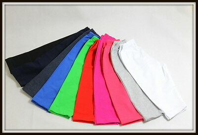 Girls 3/4 Length Cropped Leggings Cotton Summer Active age 6M to 16 Years Baby