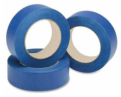 3-Rolls-UV-Resistant*Blue-Painters*Clean*Peel-Masking*Tape-25mm-x-50M