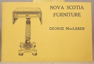 NOVA SCOTIA ANTIQUE FURNITURE HISTORY & REFERENCE George MacLaren