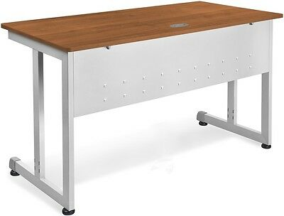 24'' D x 72'' W Contemporary Modular Desk and Worktable in Cherry Finish