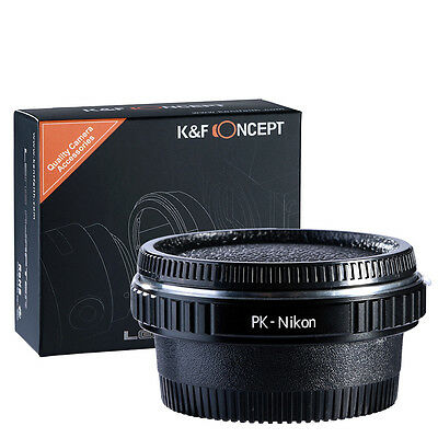 Optical Glass Pentax PK K Lens To Nikon AI AF F Camera Mount Adapter Ring Tube