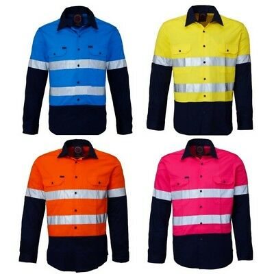 Kids Hi-Vis Drill shirt with reflective tape- The Perfect Gift!