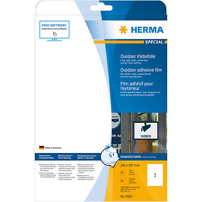 HERMA 9500 Outdoor Klebefolie  210x297 mm A4 10 St.