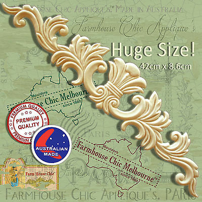 Large French Provincial Ornamental Molding Applique Furniture Resin & Wood