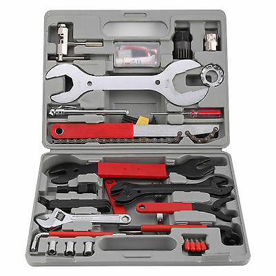 44PC Bike Cycling Bicycle Maintenance Repair Hand Wrench Tool Kit Set Box Case
