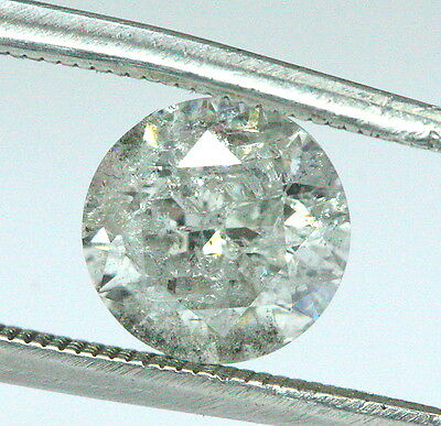 Loose 1.01ct Natural Round Brilliant Cut Diamond K - I3 6.30mm Diameter