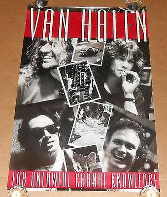Van Halen For Unlawful Carnal Knowledge Original Promo 1991 Poster 35x23 RARE