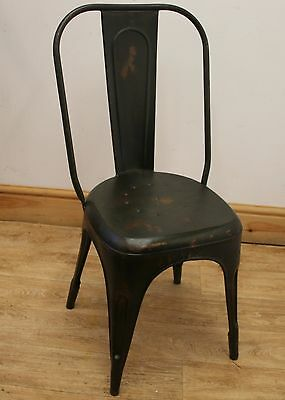 Industrial French Cafe Chair - Distressed Green Vintage Tolix Style Chair
