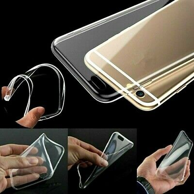 For iPhone 6/6s Plus Transparent Ultra Slim Crystal Clear Soft Jelly Case Cover