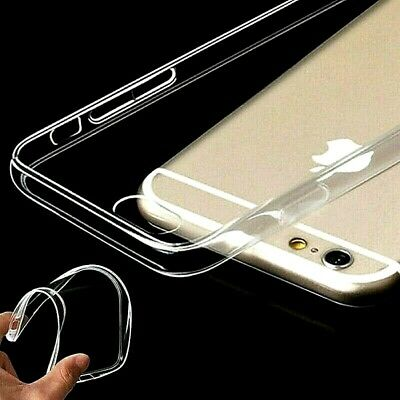 Transparent Crystal Clear Soft Jelly Case Cover Skin For iPhone 6/6s & 6/6s Plus