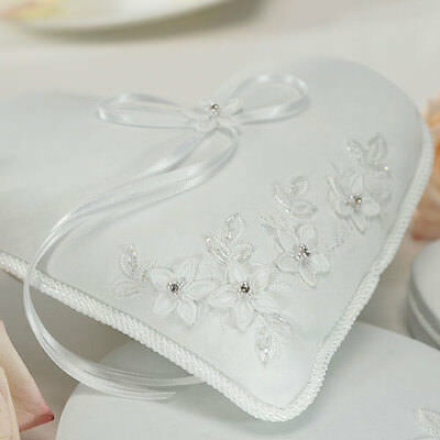 Floral Fantasy Heart Shaped Ring Pillow Wedding Ceremony