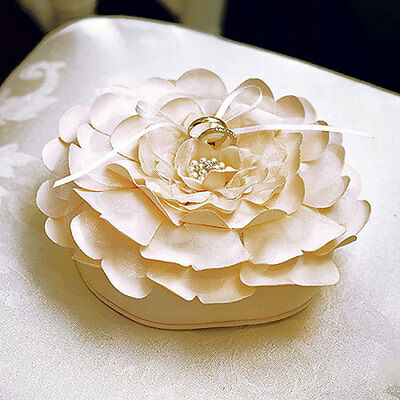 Sensational Floral Ring Pillow Champagne Wedding Ceremony