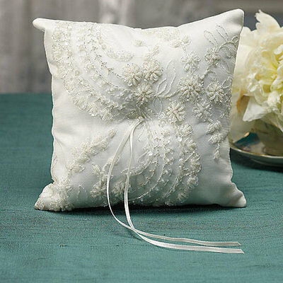 Beverly Clark Venetian Elegance Collection Wedding Ring Pillow Ivory