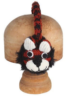 Tiger Earmuffs-HANDMADE by Pachamama - 100% Wool, Lined with Faux Fur - REDUCED!