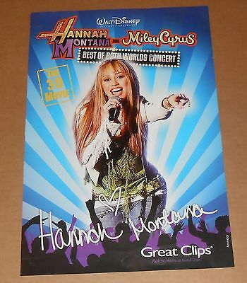 Hannah Montana Best of Both Worlds Poster 2-Sided 13x19