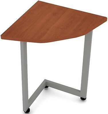 Corner 29.50'' W x 29.50'' D Connector Table in Cherry Finish - Office Desk