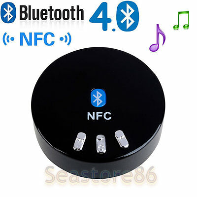 Wireless Bluetooth 4.0 + NFC Audio Stereo Music Receiver 3.5mm Car Aux Adapter