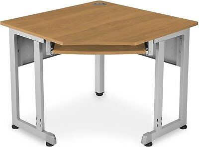 36.50'' W x 24'' D Five-Sided Corner Table in Maple Finish - Office Desk