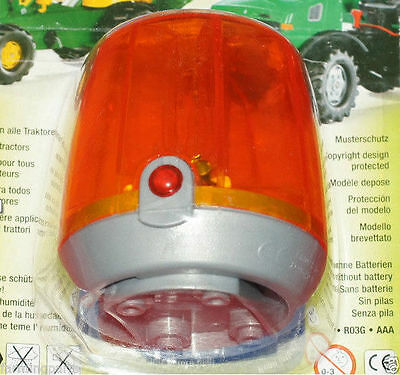 New Rolly Toys Ride On Tractor Orange Flashing Light Beacon