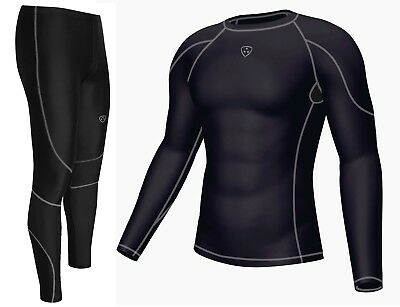 Mens Compression Armour Base layer Top & legging running Skin Fit Tight
