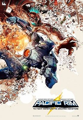 "PACIFIC RIM 13.5""x19.5"" Original Promo Movie Poster MINT IMAX Midnight RARE 2013"