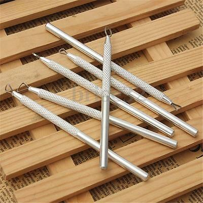 6 Pcs Set Aluminum Metal Cutting Pottery Clay Ceramic Sculpting Tools Craft