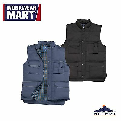 Sleeveless Bodywarmer Waterproof Vest Work Gilet Waistcoat Portwest US415