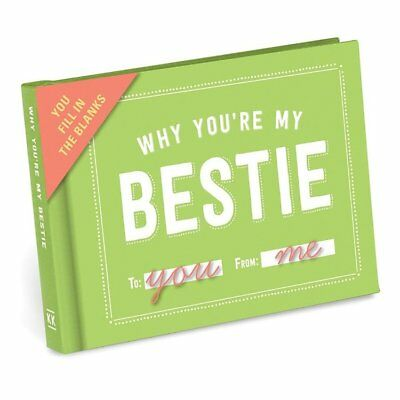 NEW Why You're My Bestie - Fill in the Blanks Journal -Best Friend BFF Gift Book