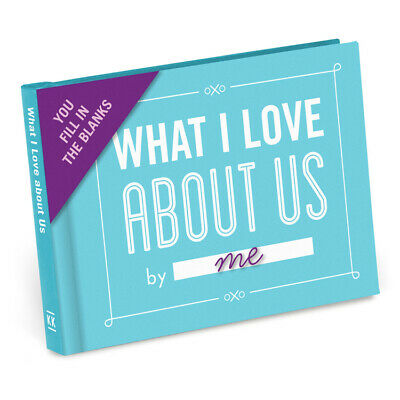 NEW What I Love About Us - Fill In The Blanks Journal- Romantic Anniversary Gift