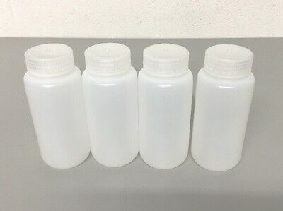 NEW (4) Nalgene Packaging Bottles, 500ml 16oz, Wide Mouth, HDPE