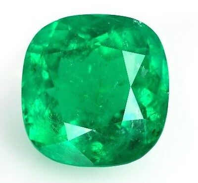 Lab Created Hydrothermal Colombian Emerald Cushion cut Loose stone (3x3 - 12x12)