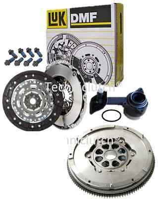Luk Dual Mass Flywheel And Clutch Kit, Bolts, Csc For Ford Mondeo 2.0 Tdci 130