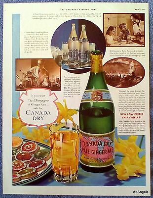 1937 Canada Dry Pale Ginger Ale El Mirador Palm Springs California Champagne ad