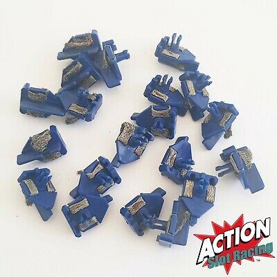Genuine Scalextric 1:32 Classic - C8145 Short Stem BLUE Guides with Braids x 20