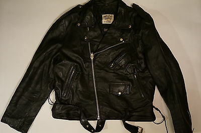 VTG OPEN ROAD wilsons LEATHER Motorcycle Biker Jacket THINSULATE L/XL