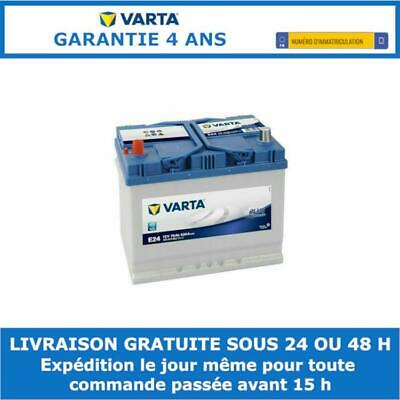 Batterie voiture Varta Blue Dynamic E24 12v 70ah 630A 261x175x220mm 570413063