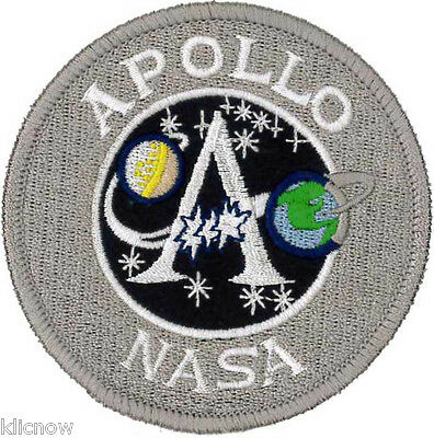 Apollo 'A'  Mission Embroidered Patch (Official Design) 7.5cm Dia approx