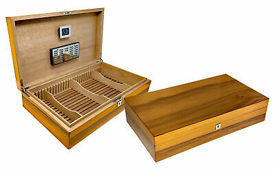 THE Winchester Authentic Applewood Lacquer Humidor w/ Slotted Divider System