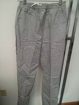 Chef Pants With Houndstooth Pattern Made In The Usa