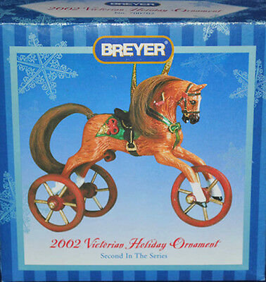 Breyer 700702 2002 Victorian Holiday Ornament Christmas Horse Tricycle - NIB