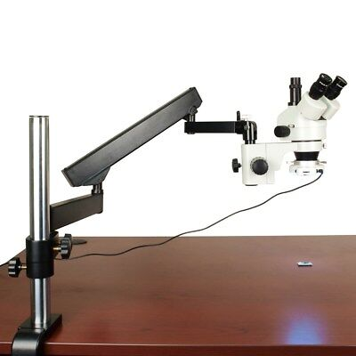 OMAX 3.5X-90X Articulating Trinocular Stereo Microscope with 54 LED Ring Light