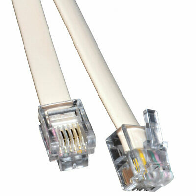 3m ADSL Broadband Modem Cable RJ11 to RJ11 WHITE [008118]
