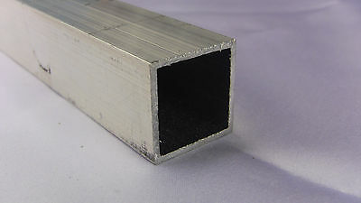Aluminum Architectural Square Tube .062 x 1 x 48 in. 6063 UAAC (2pcs)