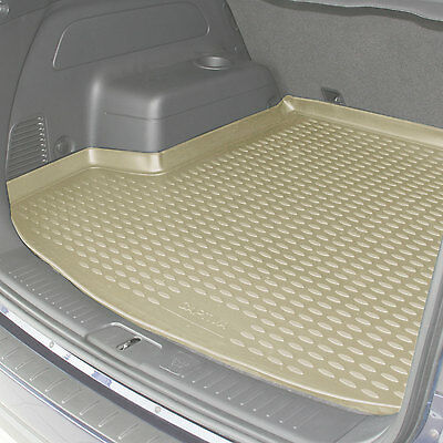 Volvo XC90 02-14 Rubber Boot Liner Fitted Beige Floor Mat Protector Tray Grip