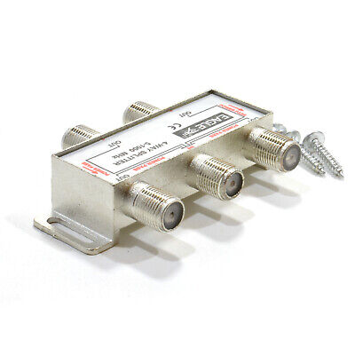 F-Type Screw Connector Splitter For TV Virgin Cable 5-1000MHz 4 way [007852]