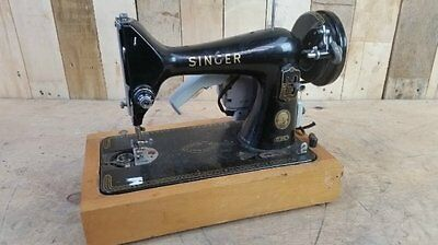 "Retro Vintage Motorised Singer 99K Sewing Machine With ""Merrit"" Motor 1924"