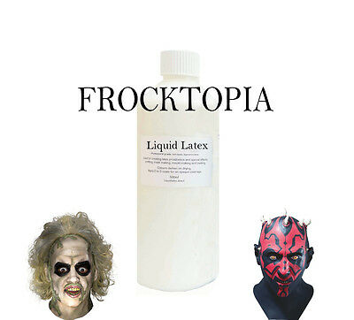 LIQUID LATEX 'SKIN SAFE' FOR Rubber Mould Making / Dipping / Crafts/ MASKS