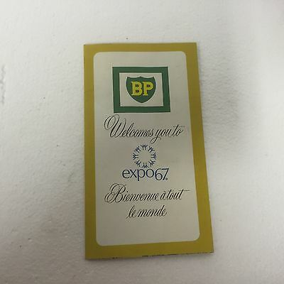 Vintage 1967 Expo 67 - Montreal, Canada Bp Gasoline Map Hard To Find Rare